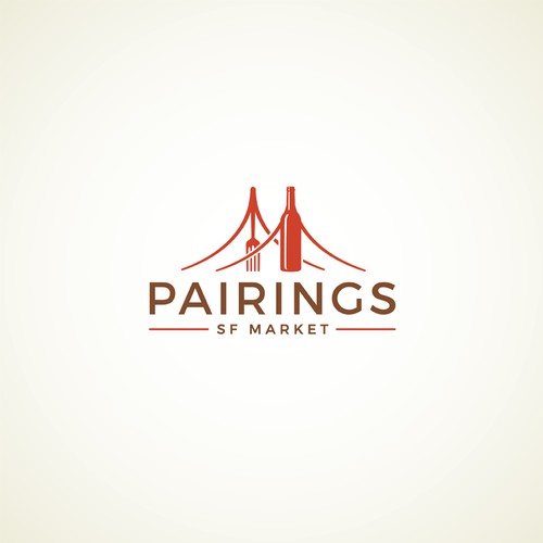 "Creative new logo for a ""Pairings"" section of SF Market."
