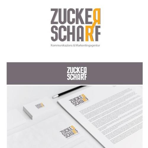 Rattenscharfes Logo-Design für neue Kommunikationsagentur zuckerscharf