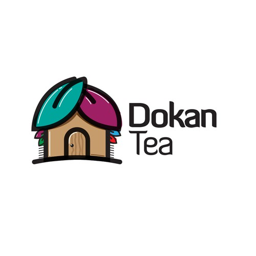 Modern logo concept for the a Online Tea Store