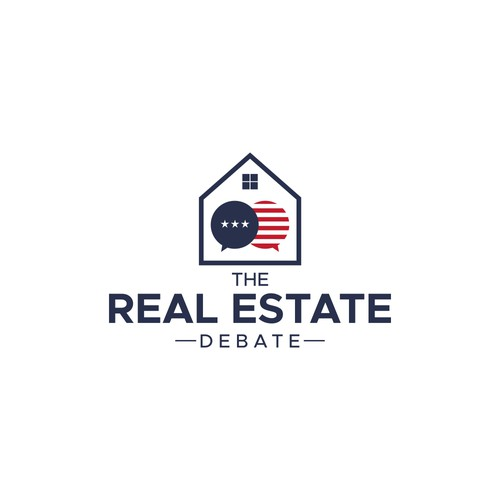 The Real Estate Debate Logo Concept