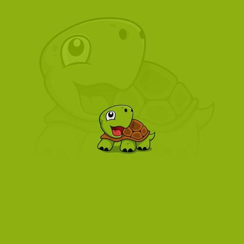 little cute  turtle