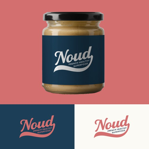 Logo Design for Gourmet and Healthy French Food Brand Noud