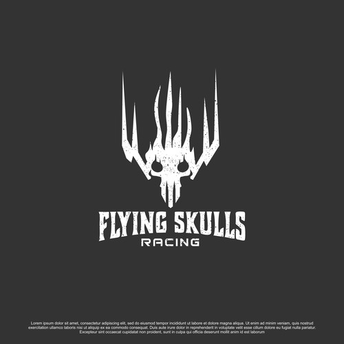 Powerfull and Fast vibes logo for Flying Skull Racing