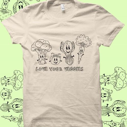 veggies t shirt illustrations