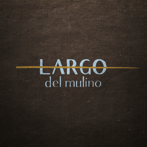 contemporary vintage logo for typical Italian restaurant