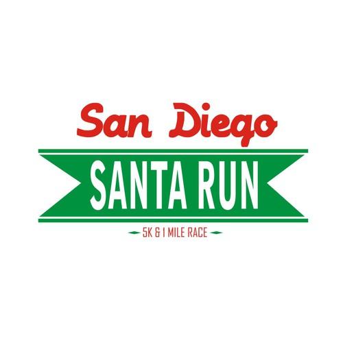 Create a festive logo for the San Diego Santa Run!