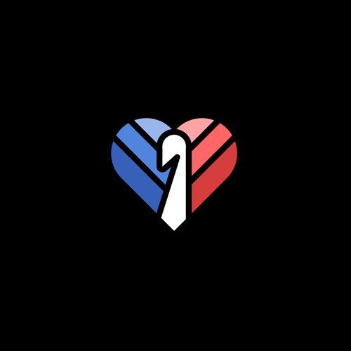 Peacock heart logo