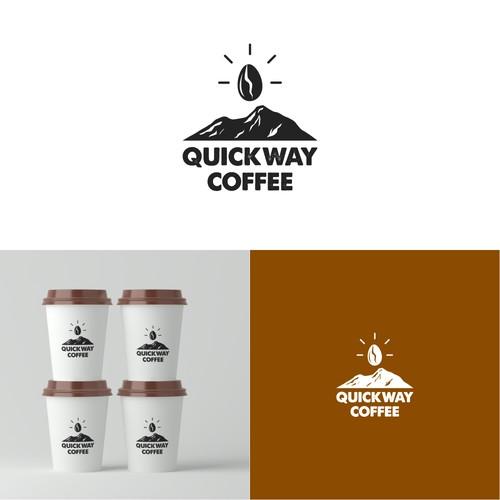 A minimalist logo for a coffee shop