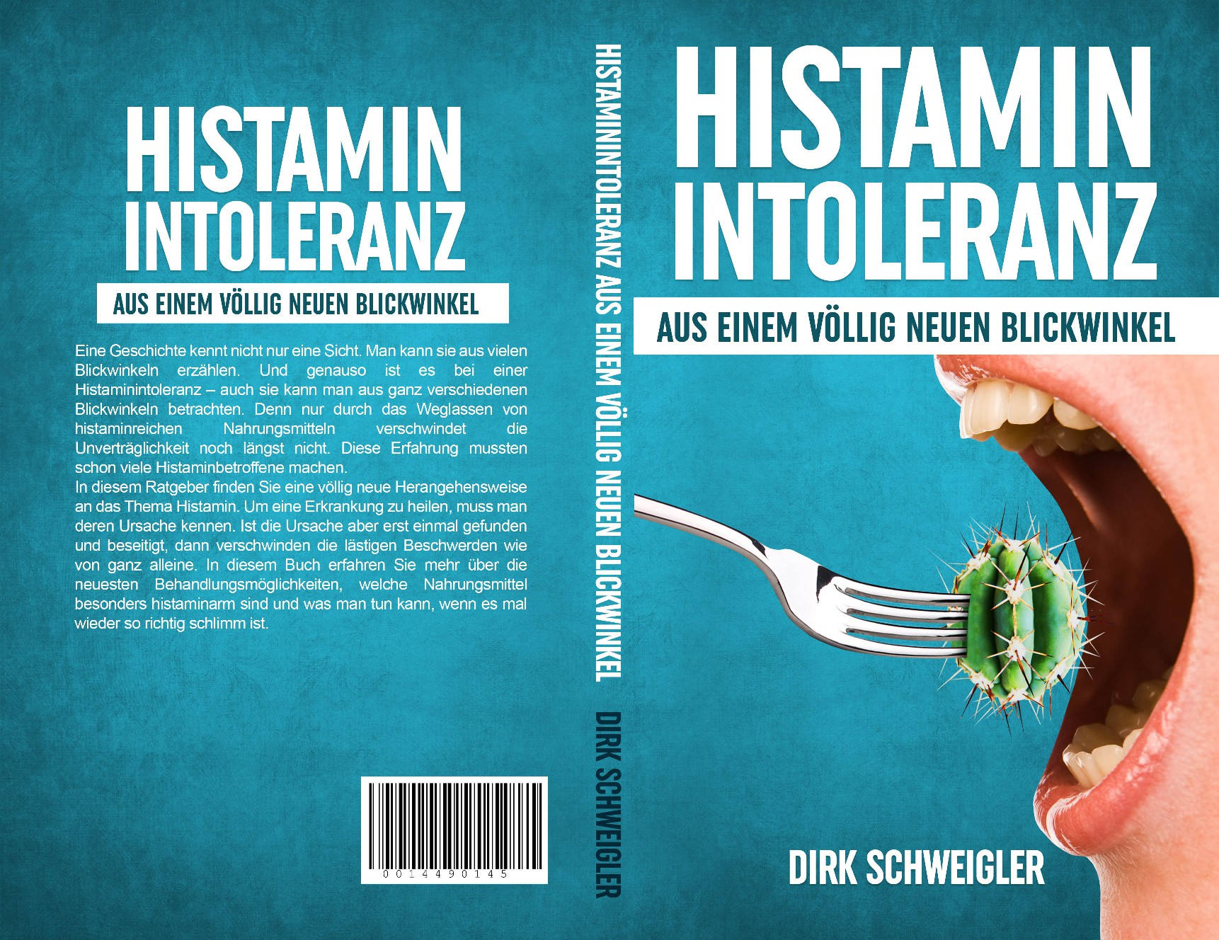 Cover for a book about histamine intolerance (=digestion problems)