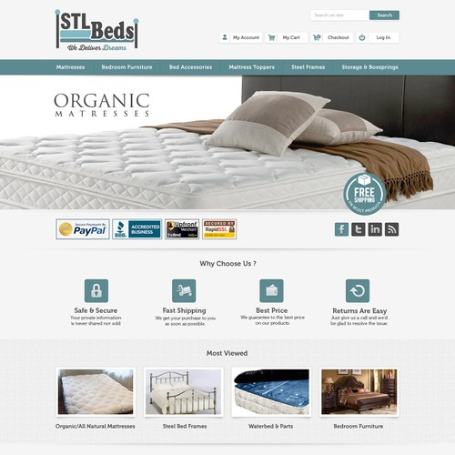 Help STL Beds with a new website design