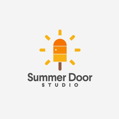 popsicle + Door + sun logo concept