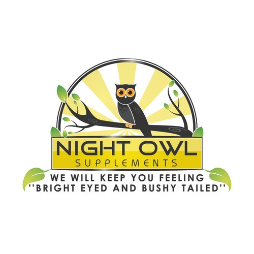 Logo Design Concept for Night Owl Supplements.