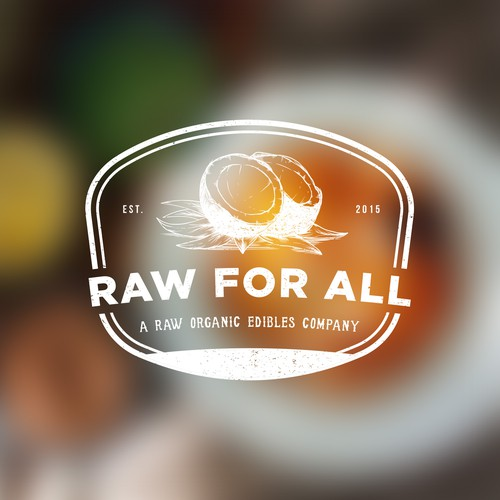 Raw for all logo