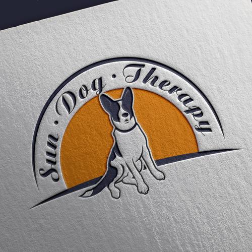 Bold logo design for sun dog therapy company