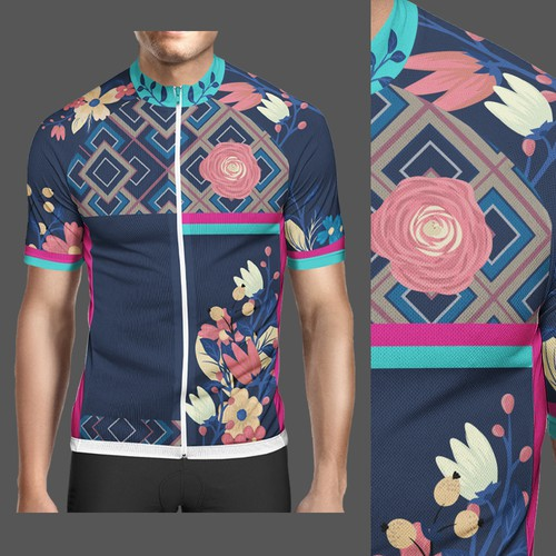 Floral Cycling Jersey