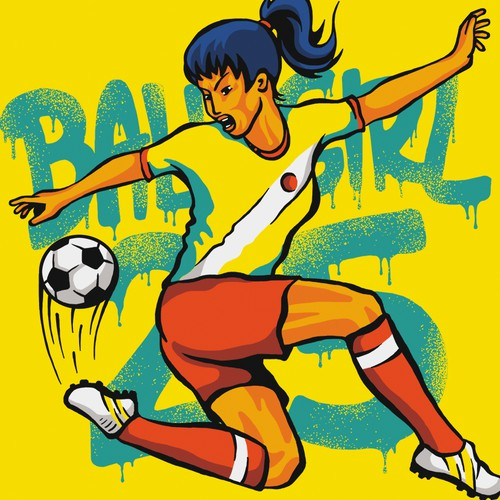 T-shirt Design for BallGirl