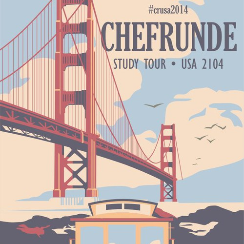 "Design a retro ""tour"" poster for a special event at 99designs!"