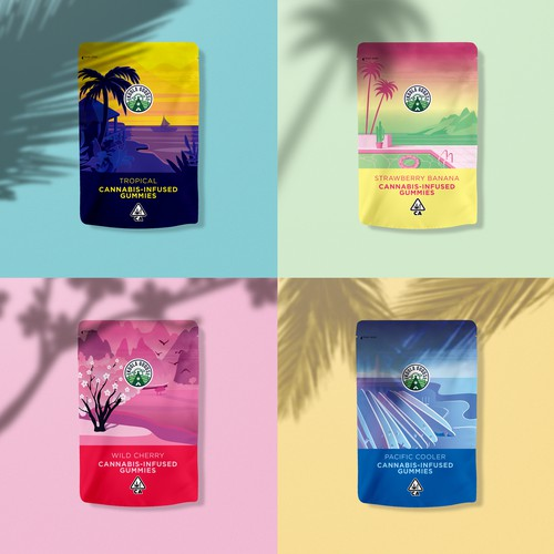 Logo and Packaging for Cannabis-Infuse Gummies