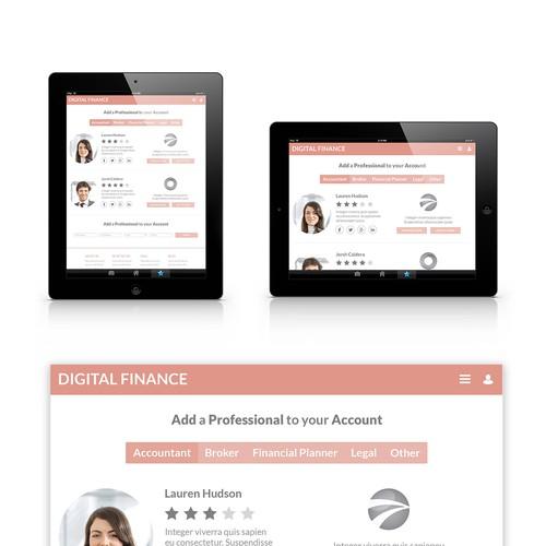 App design digital finance