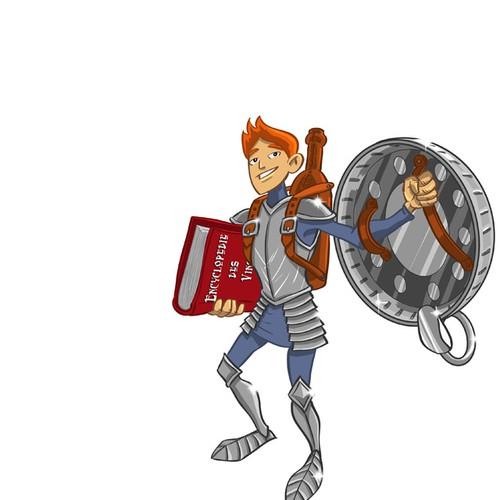 illustration de 5 personnages fantastiques reliés au monde du vin