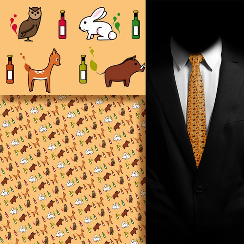 pattern for a tie design