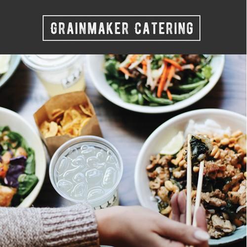 Catering Menu Design for GRAINMAKER, Boston