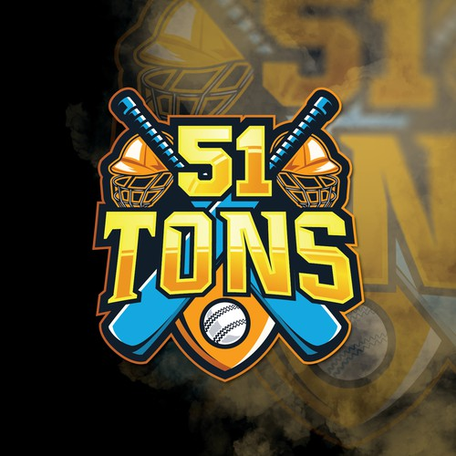 Sports logo design for a cricket app