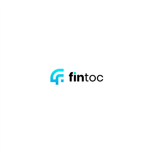 Simple and clean logo for fintoc