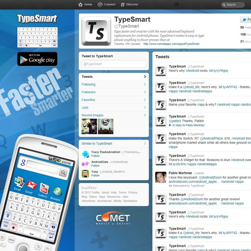 Help TypeSmart with a new twitter background