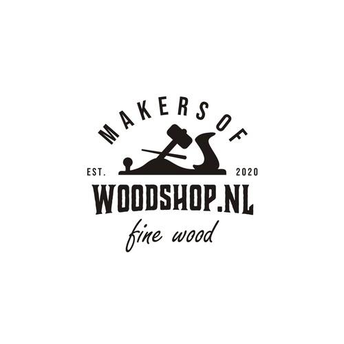Hip Vintage Logo design for Cozy Little Woodshop