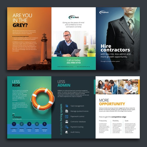 Professional eye-catching brochure