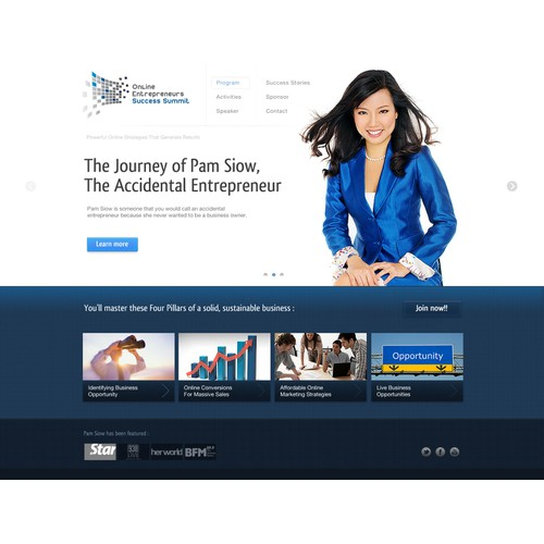 website design for Online Entrepreneur Success Summit