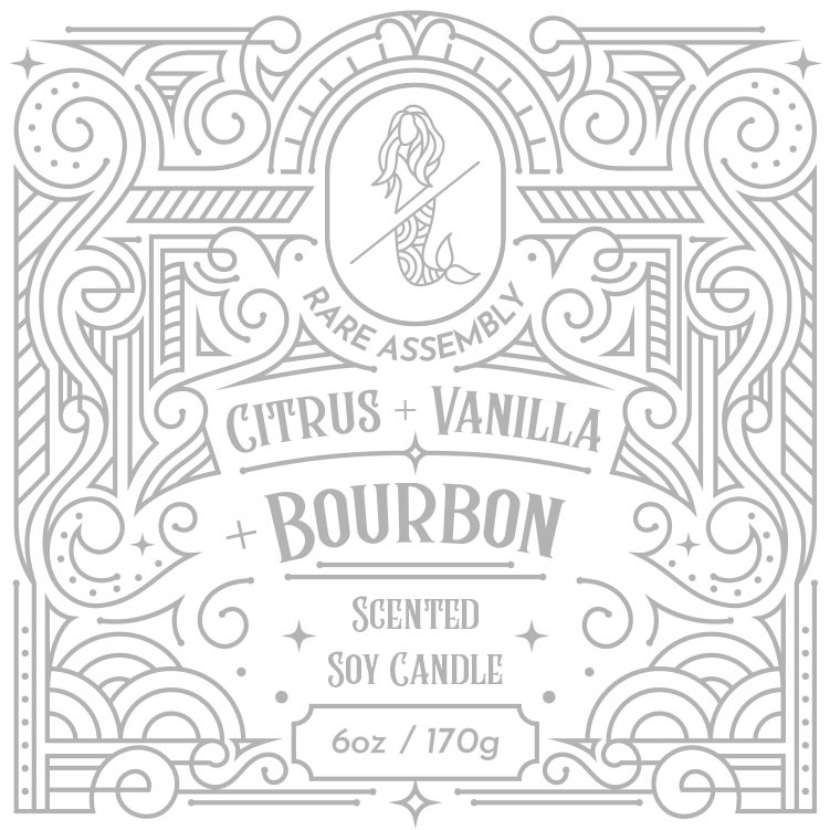 High-End Candle Label Design