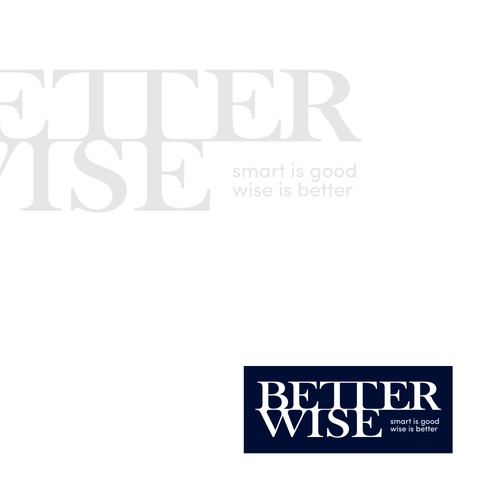 Typography logo for Better Wise