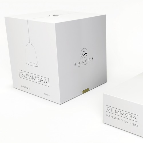 Packaging concept for a stylish lamp