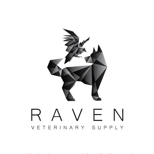 Raven Veterinary Supply Logo
