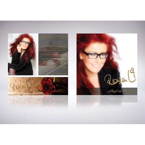 Create COVER & Booklet for RosaLi´s first EP - create with wow-factor - looks like a Diva!