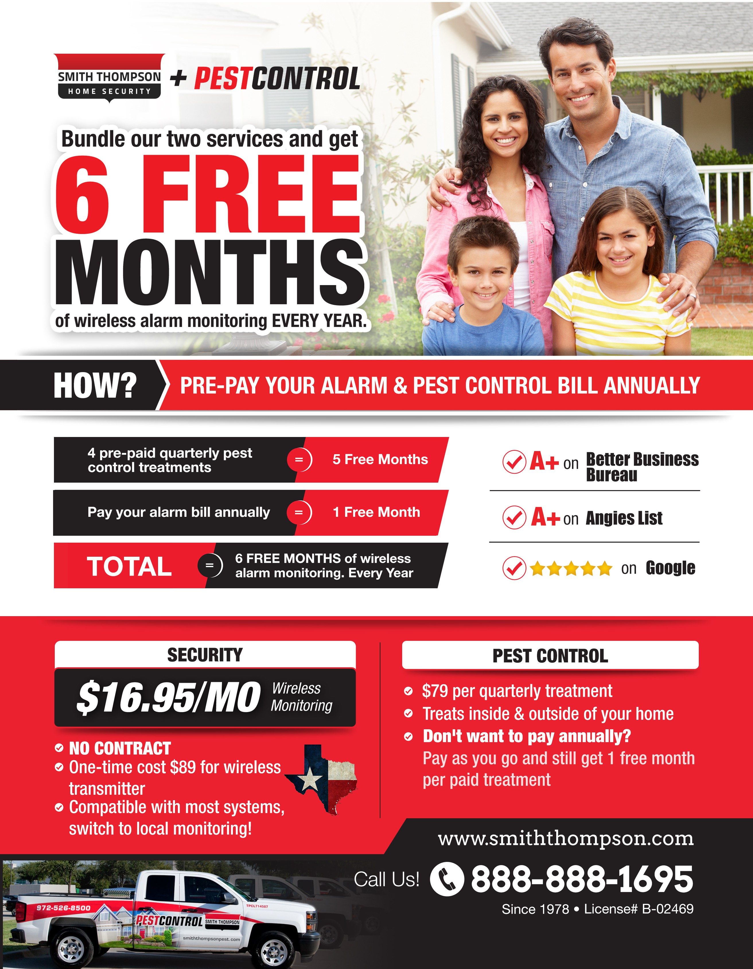 PRINT ad for SECURITY + PEST CONTROL
