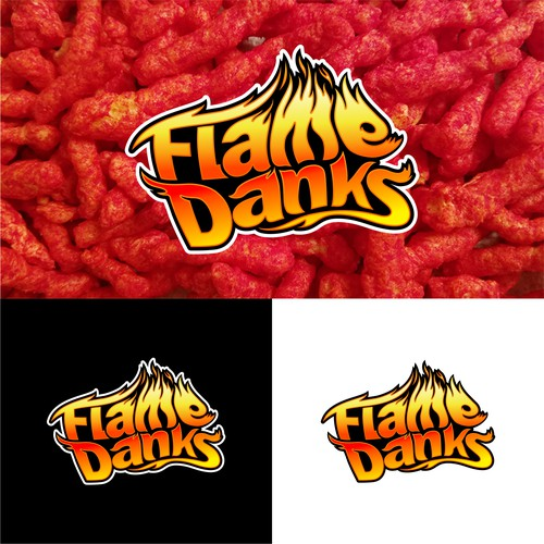 Logo concept design for flame danks