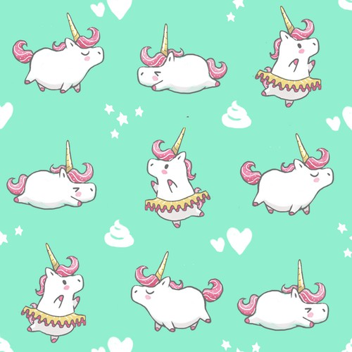 cute unicorns pattern