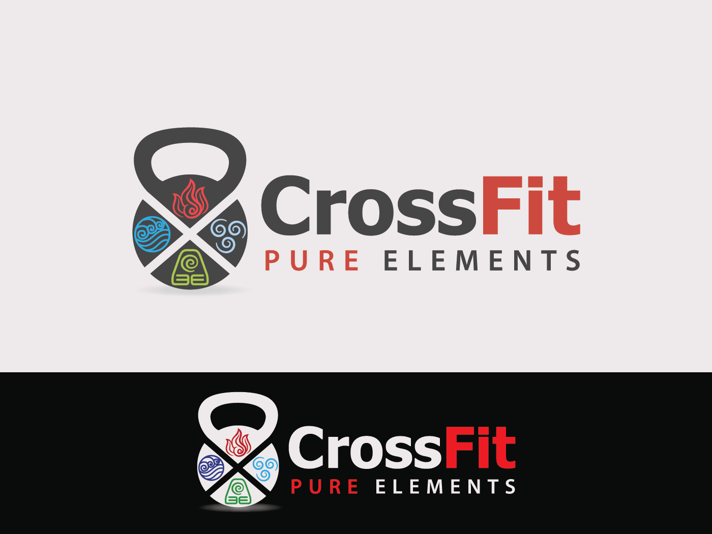 Create an inspiring logo for Crossfit Pure Elements