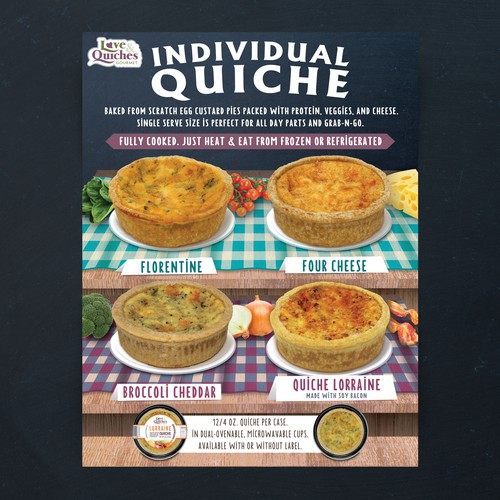 Sell sheet for Love & Quiches Inc. (NJ, USA)