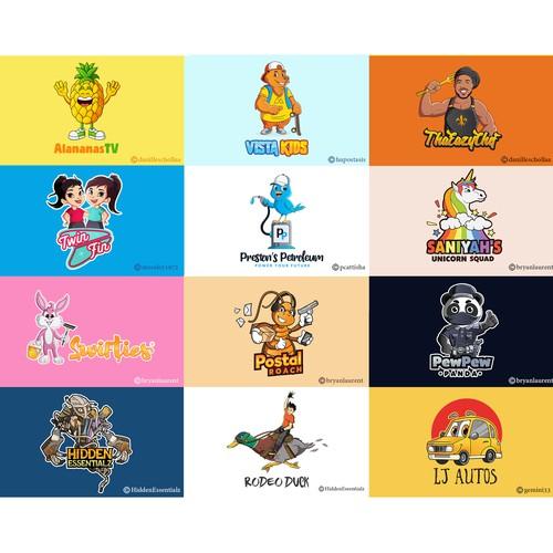 Logo mascots - Grid 5