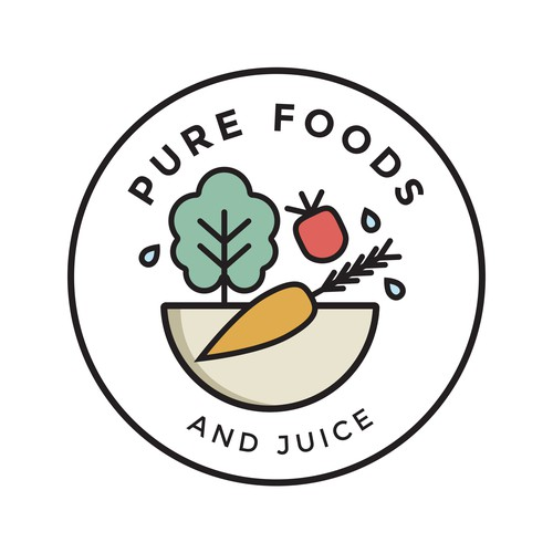 'Pure Foods and Juice' logo