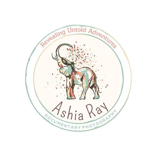 Elephant logo for a photographer