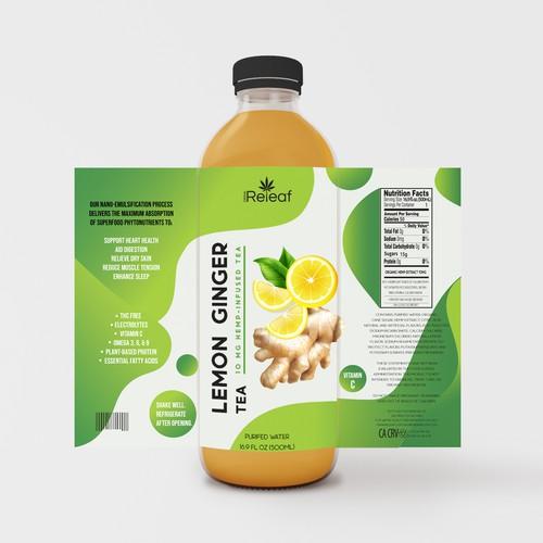 Releaf Tea label