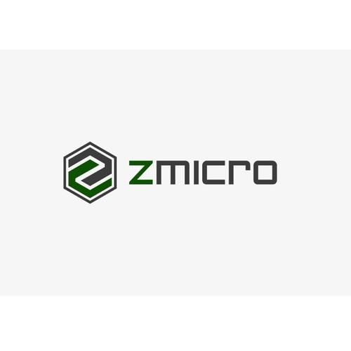 Create a capturing, high-end logo for Z Micro, a growing tech company.