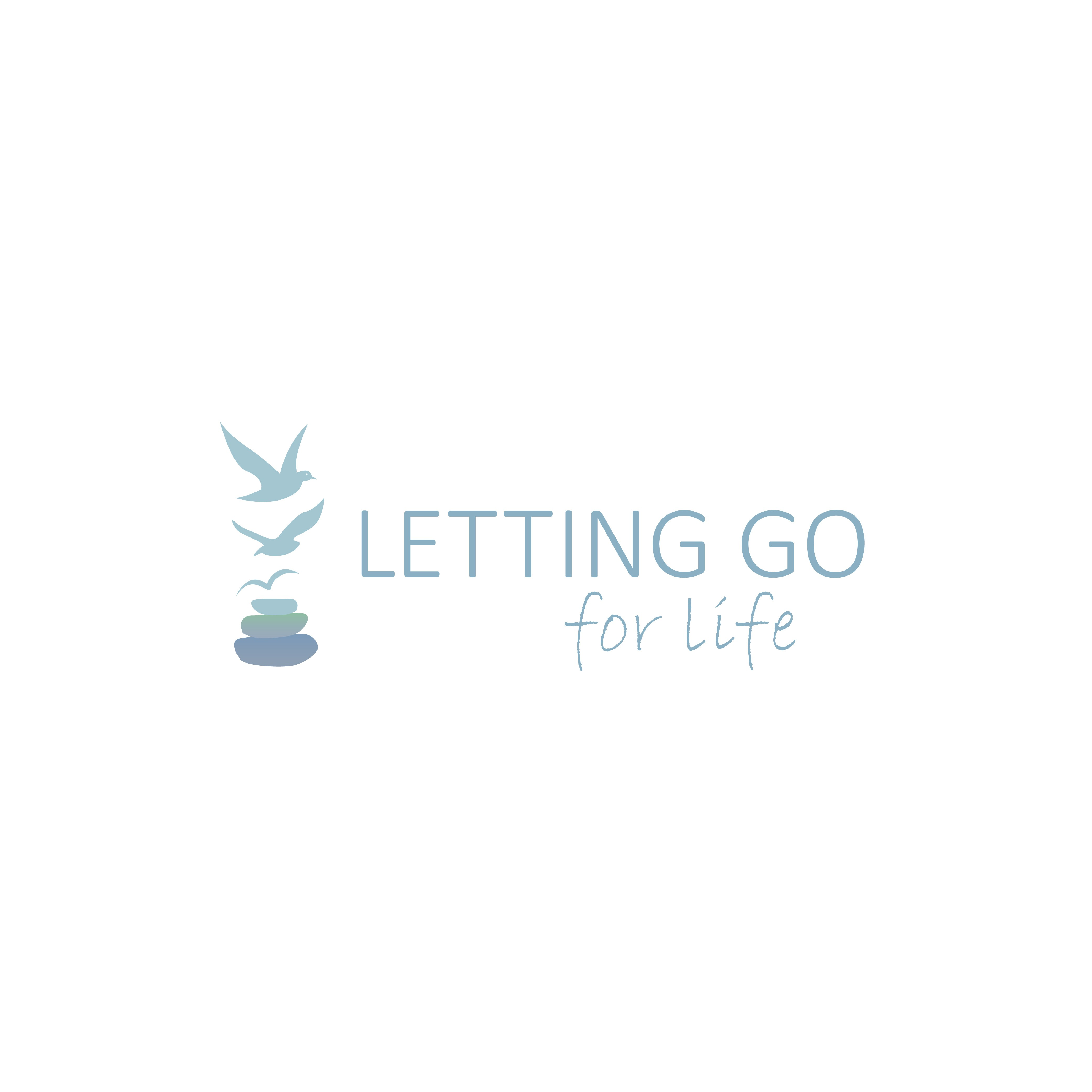 Lettinggoforlife.com Healing services logo to symbolize 'Letting Go'  of negative thoughts.