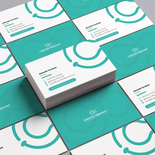 Business Card for Amanda Forshew Director at Customer Allignment