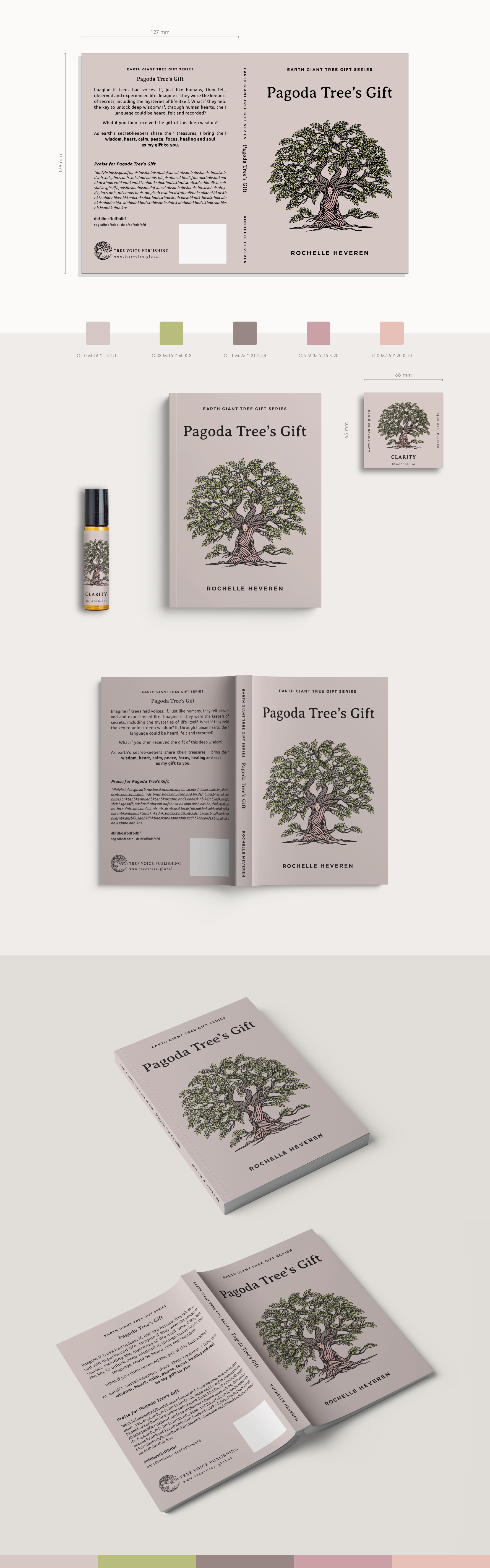 Pagoda Tree's Gift - Book Cover and Essential Oil Bottle Sticker